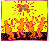 untitled 1-5 by keith haring