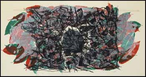 feuilles v by jean paul riopelle