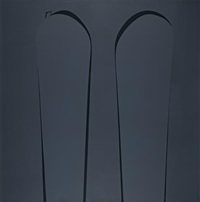 untitled, dark grey ii by ian davenport