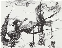 sketch for a fabulous tale (from skowhegan portfolio no. 1) by kara walker