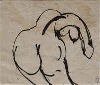 bending nude by brett whiteley