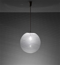 rare ceiling light, model no. 5258 by carlo scarpa