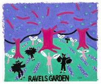 ravel's garden with night glow (v. ii) by david hockney