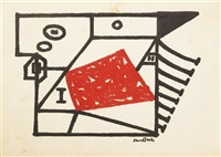 untitled (invitation to exhibtion at the moma) by stuart davis