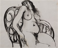 woman in chair by brett whiteley