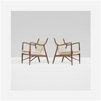 nv45 lounge chairs (pair) by finn juhl