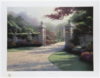 summer gate by thomas kinkade
