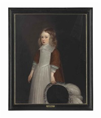 portrait of a boy, possibly sir thomas pope blount, 1st baronet (1649-1697), of tyttenhanger, hertfordshire, three-quarter-length by john hayls