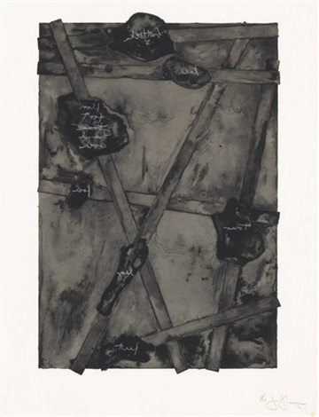 sketch from untitled ii by jasper johns
