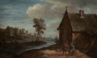 campesinos junto al rio by abraham teniers