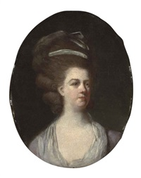 portrait of a lady (mrs. livins, wife of peter lewis livins of lisbon?) by johann joseph zoffany