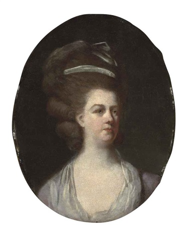 portrait of a lady mrs livins wife of peter lewis livins of lisbon by johann joseph zoffany