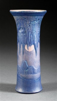 vase (decorated by anna frances simpson) by newcomb college pottery