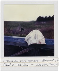 a bench and the sea, nova scotia by robert frank