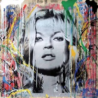 kate moss 2 by mr. brainwash