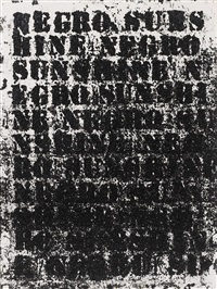 study for negro sunshine #49 by glenn ligon