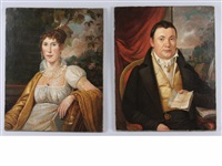 portrait of charles hupfield of philadelphia (+ another, 2 works) by charles willson peale