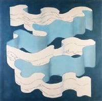 sin titulo (espirales azul) by patricio cabrera