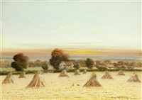 harvest landscape by george oyston