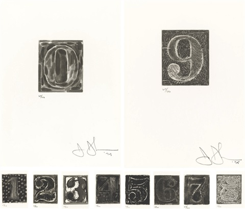 0 9 set of 10 by jasper johns