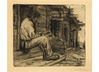 finnish peasant reading the bible by albert edelfelt