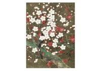 red and white plum by zenjiro uda