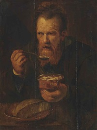 an old man eating by jan wouters