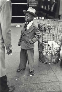 tired little boy after circus in madison square garden, 1949 by ruth orkin