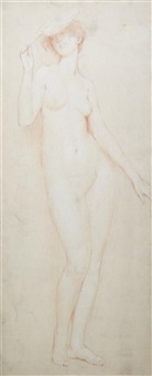 nude with a fan by philip leslie hale