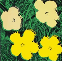 flowers : one print by andy warhol