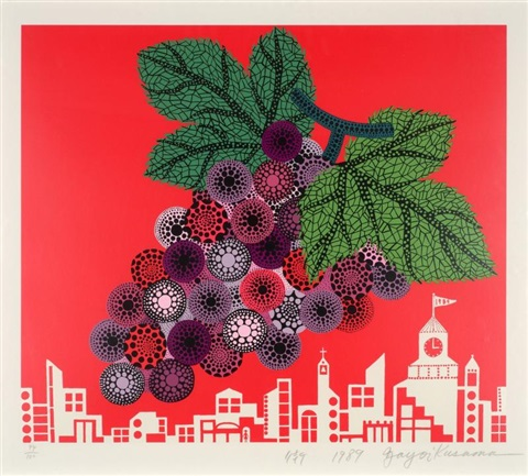 grapes in the city by yayoi kusama
