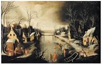 paysage de neige by denis van alsloot