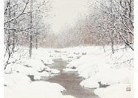 winter river by shinji yamazaki