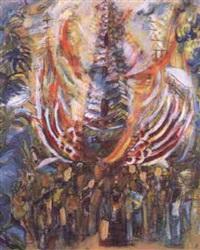 balinese procession by guelda pyke