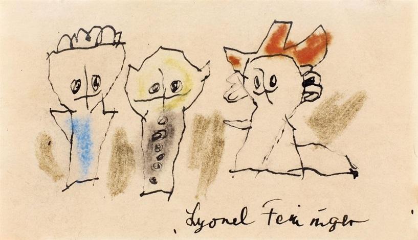 drei figuren drei ghosties by lyonel feininger