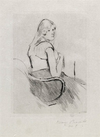 en déshabillé by mary cassatt