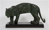 tigre marchant by maurice guiraud-rivière