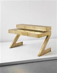 rare z desk with drawer unit by gabriella crespi