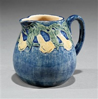 creamer (decorated by anna frances simpson) by newcomb college pottery