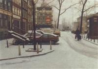 haarlemmerplein, winter by frans koppelaar