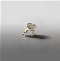 maquette, for the danish chair by gerrit thomas rietveld