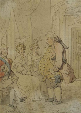 the placeman - an unwanted suitor by thomas rowlandson