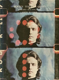 screen tests. a diary. (book w/54 works, quarto, 1st edition) by gerard malanga and andy warhol