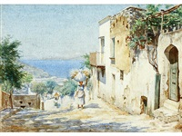 street scene, capri (+ 1 others; 2 works) by horace fisher