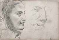 perfil de joven (boceto) by eduardo rosales martínez