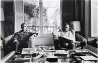 christopher isherwood and don bachardy (study) by david hockney