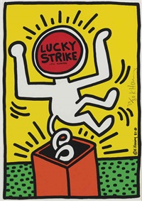 lucky strike : one print by keith haring