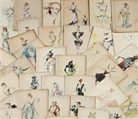 le bestiaire - costumes principalement pour loie fuller (38 works) by alexandre jean louis jazet