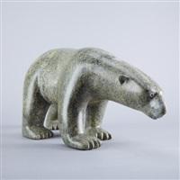 walking polar bear by adamie ashevak