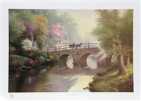 hometown bridge by thomas kinkade
